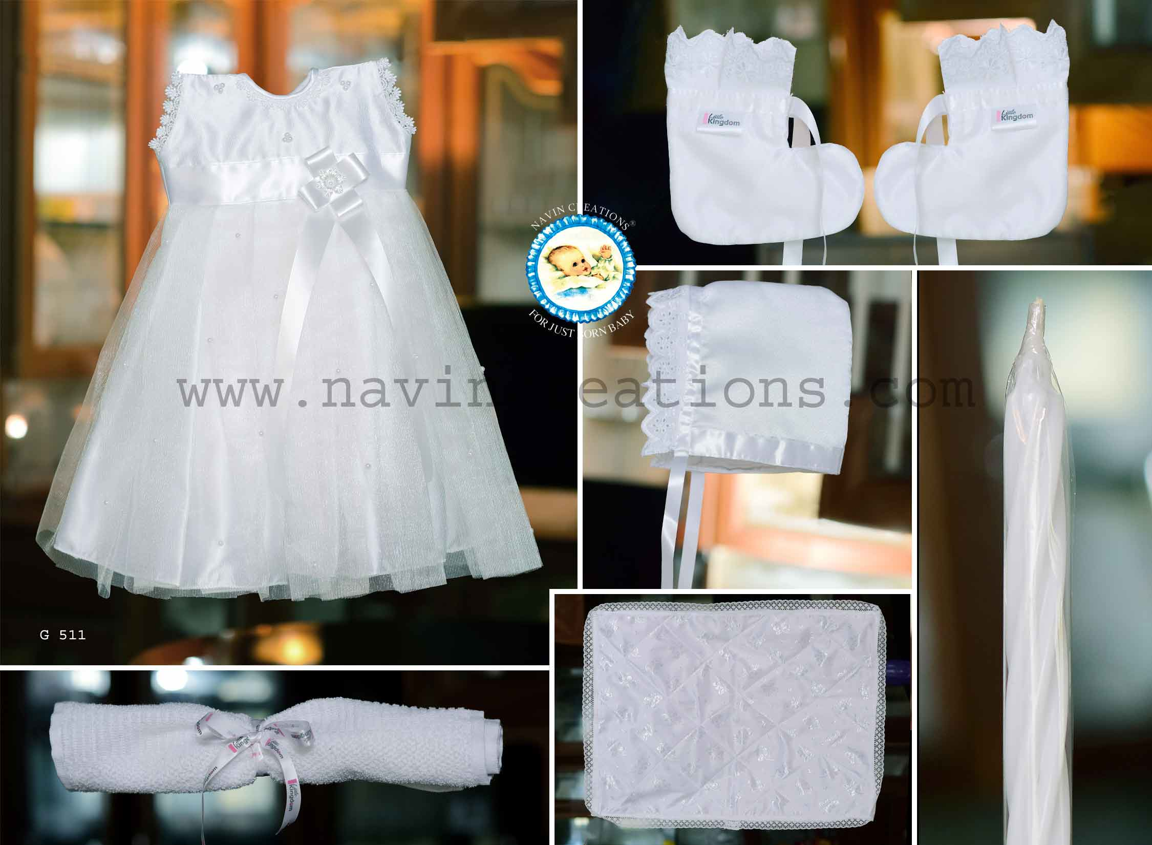 a04504f67 G 511 Christening dress for baby girls Buy online India